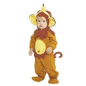 Rubie's Monkey Costume NEW 0-6 mo Brown Yellow